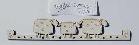 click here to view larger image of Large Sheep Hanger - Cream (accessory)