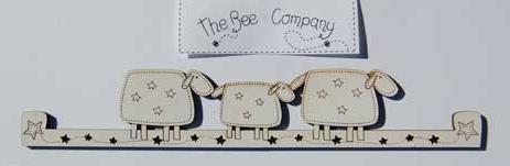 click here to view larger image of Small Sheep Hanger - Cream (accessory)