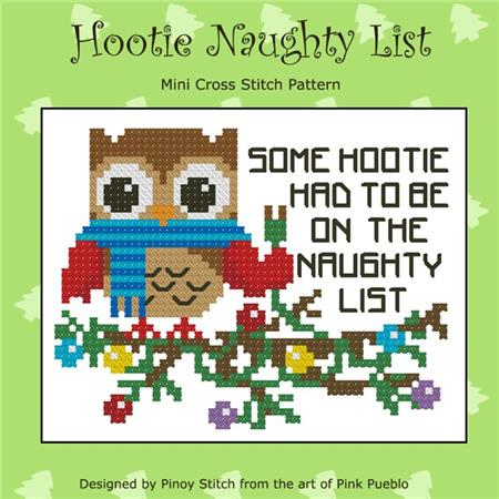 click here to view larger image of Hootie Naughty List Christmas (chart)