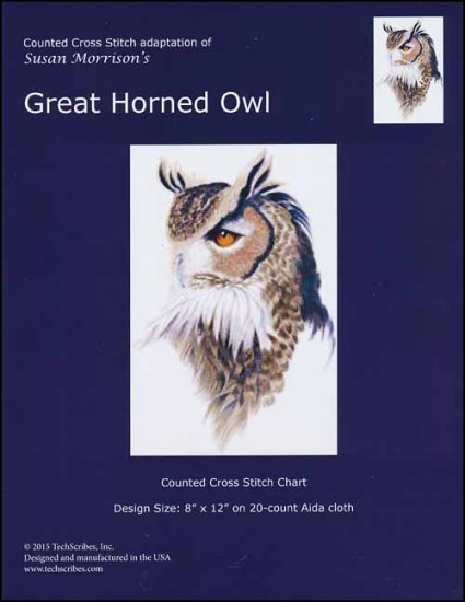click here to view larger image of Great Horned Owl (chart)