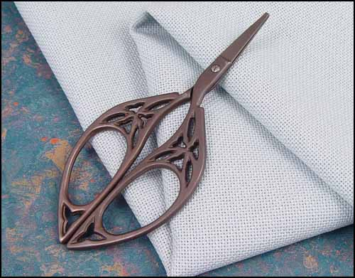 click here to view larger image of Bronze Butterfly Embroidery Scissors (chart)