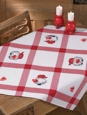 click here to view larger image of Elfs Coffee Table Cloth (stamped cross stitch kit)
