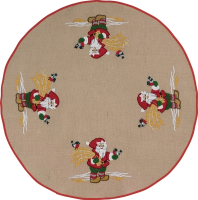 click here to view larger image of Santa Tree Skirt (stamped cross stitch kit)