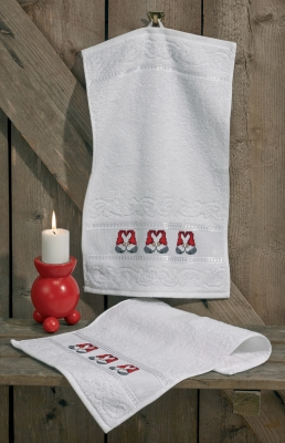 click here to view larger image of Heart Elfs Hand Towels (Set of 2) (counted cross stitch kit)