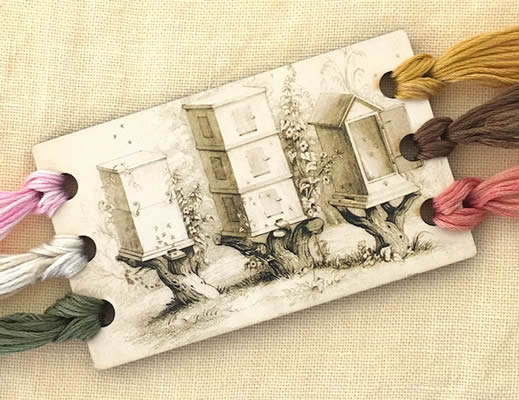 click here to view larger image of Beeskep Vintage Postcard Threadkeep (accessory)