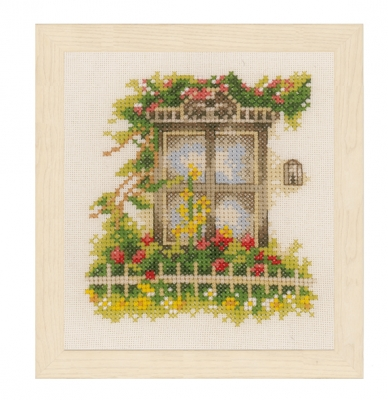 click here to view larger image of Window and Flowers (counted cross stitch kit)