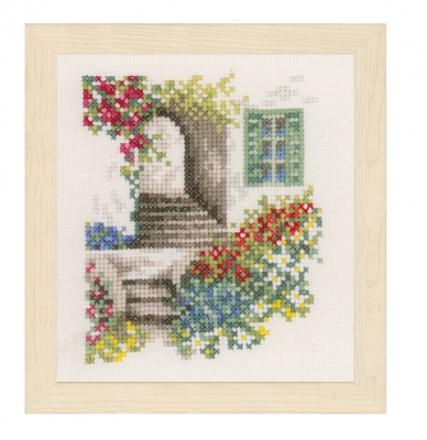 click here to view larger image of Alley With Flowers (counted cross stitch kit)