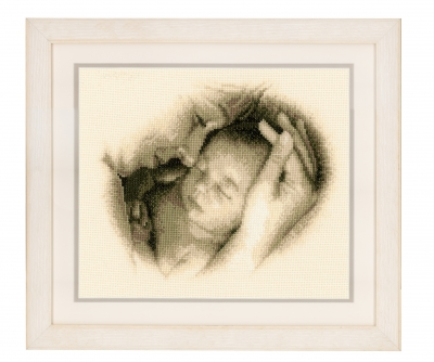 Mother and Child - click here for more details about counted cross stitch kit