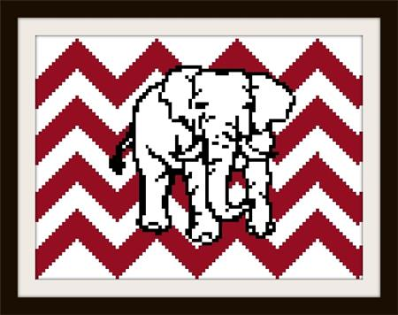 click here to view larger image of Elephant On Chevron (chart)