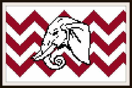click here to view larger image of Elephant Head on Chevron (chart)