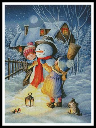 Dressing The Snowman - click here for more details about chart