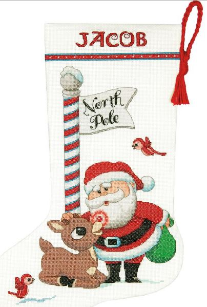 click here to view larger image of Rudolph Stocking (counted cross stitch kit)