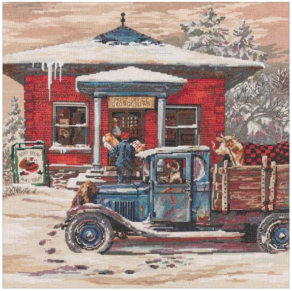 click here to view larger image of Rural Post Office (counted cross stitch kit)