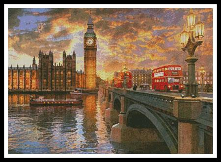 click here to view larger image of Westminster Sunset  (Dominic Davison) (chart)