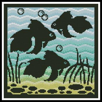 click here to view larger image of Aquarium Silhouette 1  (Joni Prittie) (chart)