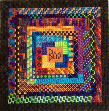 click here to view larger image of Boo Logs (counted canvas chart)