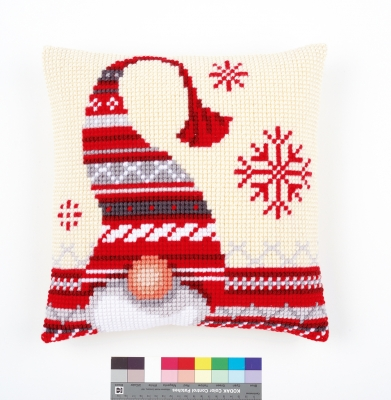 click here to view larger image of Christmas Elf Cushion (needlepoint)