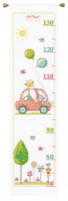 click here to view larger image of Roadtrip Height Chart (counted cross stitch kit)