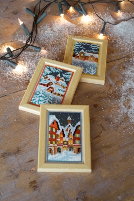 click here to view larger image of Winter Night Miniatures (Set of 3) (counted cross stitch kit)