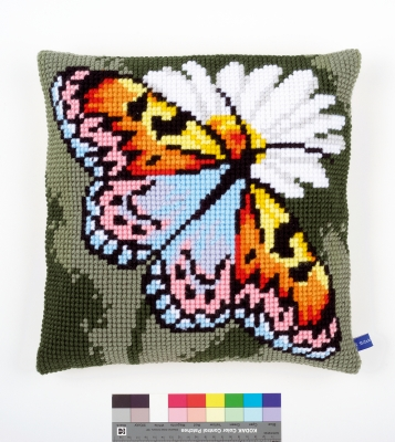 click here to view larger image of Butterfly Cushion (needlepoint)