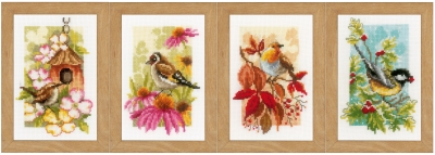 click here to view larger image of Four Seasons Miniatures (set of 4) (counted cross stitch kit)
