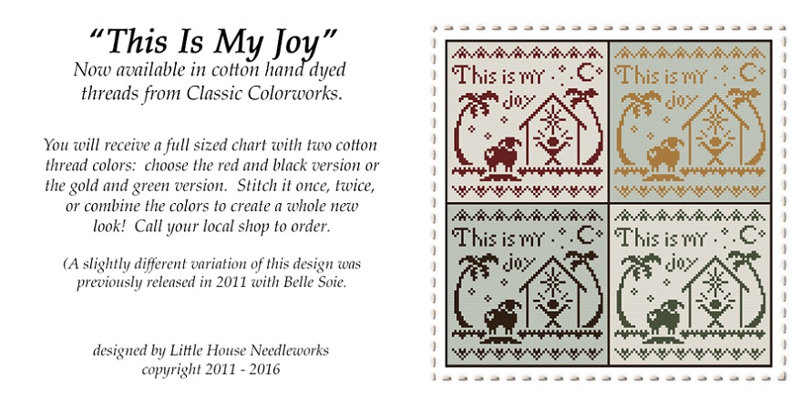 click here to view larger image of This Is My Joy (chart with charms/buttons)
