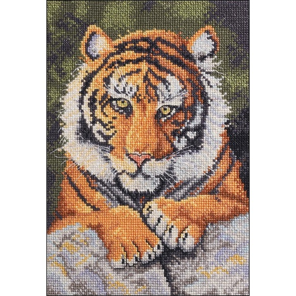 click here to view larger image of Benji Tiger (counted cross stitch kit)