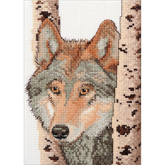 click here to view larger image of Wolf (counted cross stitch kit)