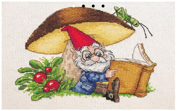 click here to view larger image of Under The Mushroom (counted cross stitch kit)