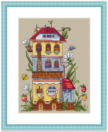 click here to view larger image of Summer House (counted cross stitch kit)