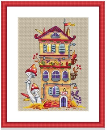 click here to view larger image of Autumn House (counted cross stitch kit)