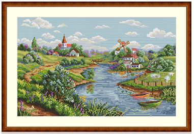 click here to view larger image of Spring View (counted cross stitch kit)