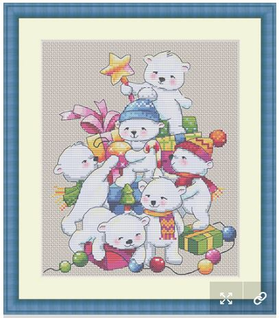 click here to view larger image of Christmas Bears (counted cross stitch kit)