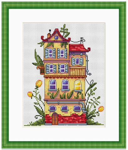click here to view larger image of Spring House (counted cross stitch kit)