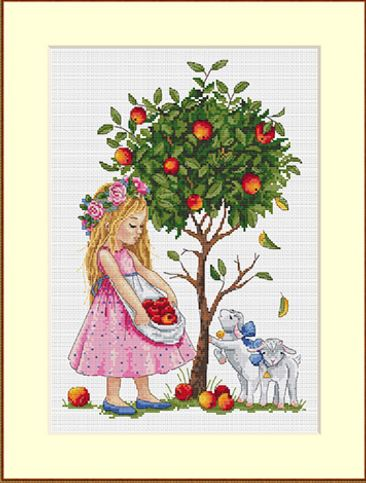 click here to view larger image of Apple Tree (counted cross stitch kit)