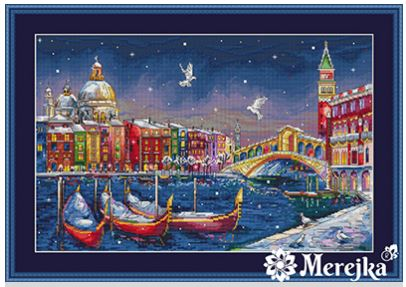 click here to view larger image of Holiday Venice (counted cross stitch kit)