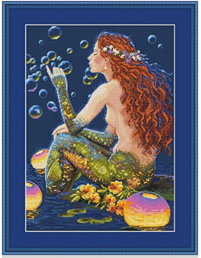 click here to view larger image of Bubbles (counted cross stitch kit)