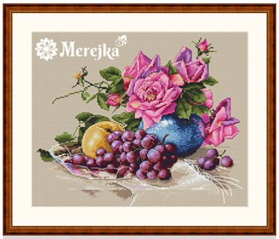 click here to view larger image of Still Life with Grape (counted cross stitch kit)