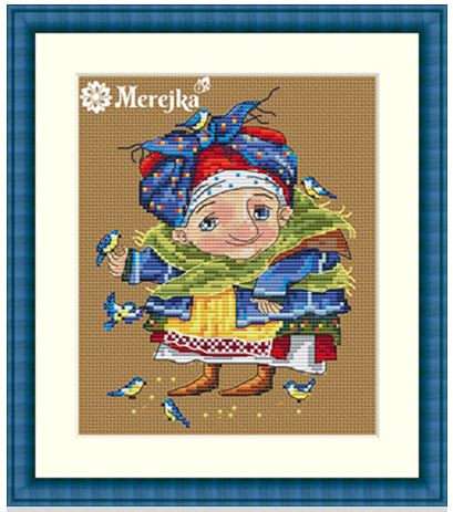 click here to view larger image of Blue Titmouse (counted cross stitch kit)