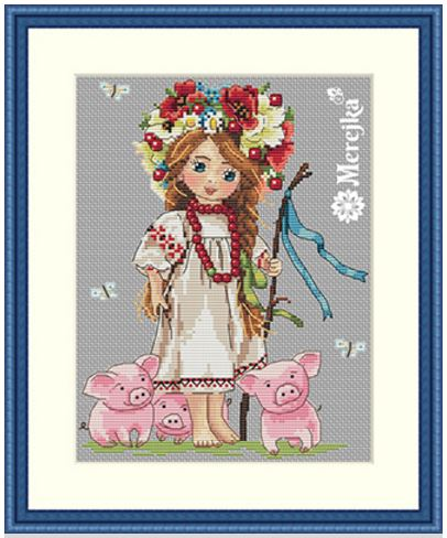 click here to view larger image of Shepherd Girl (counted cross stitch kit)