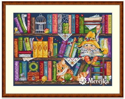 click here to view larger image of Book Shelf (counted cross stitch kit)