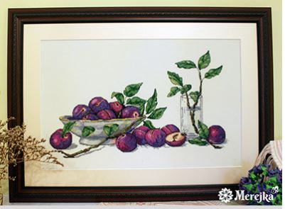 click here to view larger image of Sweet Plums (counted cross stitch kit)