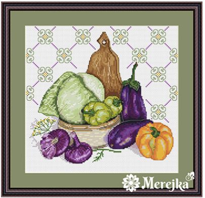 click here to view larger image of Stil Life Le Pourpre (counted cross stitch kit)