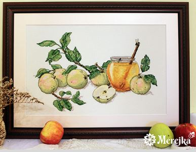 click here to view larger image of Honey Apples (counted cross stitch kit)