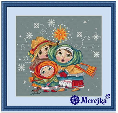 click here to view larger image of Christmas Carol (counted cross stitch kit)