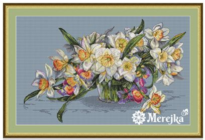 click here to view larger image of Daffodils (counted cross stitch kit)