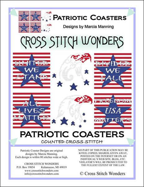 click here to view larger image of Patriotic Coasters (chart)