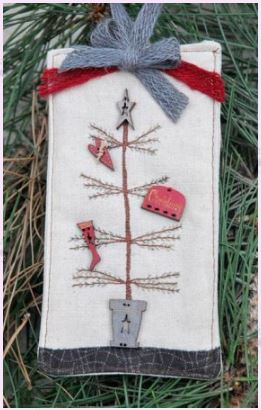 click here to view larger image of Primitive Christmas Tree (Limited Edition) (counted cross stitch kit)