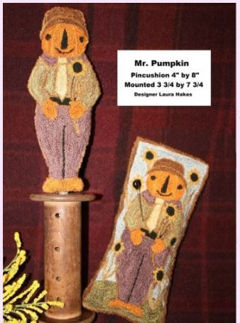 click here to view larger image of Mr Pumpkin (Punchneedle) (Punchneedle)