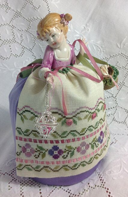 click here to view larger image of Patrizia - A Little Girl Capodimonte Pincushion Doll (chart)